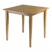 Winsome Light Oak Square Dining Table With Shaker Leg