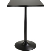 Winsome Obsidian Counter-Height Square Dining Table, Black