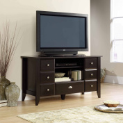 Sauder Shoal Creek Jamocha Wood Entertainment Credenza, for TVs up to 134.6cm