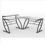 Z Line Designs ZL1441-1DU Belaire Glass L Desk