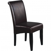 Office Star Products MET86ES Metro Parsons Dining Chair - Espresso Eco Leather