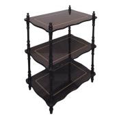 Traditional Decorative 3 Tier Shelf, Cherry