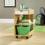 Sauder Studio Edge Juice Collection Utility Cart, Rice/White Oak