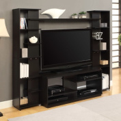 Altra Black and White Home Entertainment Centre with Two Reversible Back Panels for TVs up to 114.3cm