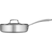 Tramontina 2.8l Tri-Ply Clad Deep Saute Pan with Lid, Stainless Steel