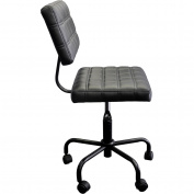 Urban Shop Quilted Computer Chair, Black