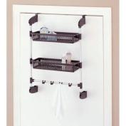 Neu Home 17712 Overdoor 2 Basket Unit with Hook Silver-Black