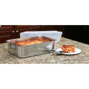 Cook Pro 531 4 PC Stainless Steel Roaster & Lasagna Pan with Plastic Cover All-in-One
