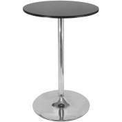 Spectrum Pub Table, Black and Chrome