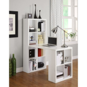 Altra Furniture Desks Hollow Core Hobby Desk with 12-Cube Storage in White 9358296