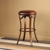 Hillsdale Furniture Kelford 66cm Backless Swivel Counter Stool, Antique Bronze Finish