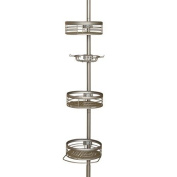 Zenith 3-Shelf Tension Pole Caddy, Satin Nickel