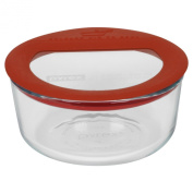 Pyrex No-Leak Glass 2-Cup Round Food Storage Container