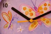 Bai Design Children Wall Clock with Butterflies