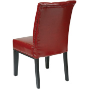 Office Star Products MET89RD Metro Parsons Dining Chair with Back - Crimson Red Eco Leather