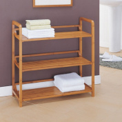 Neu Home Lohas Collection 3-Tier Shelf, Carbonised Bamboo