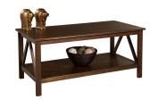 Linon Home Decor 86151ATOB-01-KD-U Titian Coffee Table- Antique Tobacco Finish