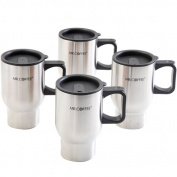 Mr. Coffee Expressway 470ml Double Wall Stainless Steel Travel Mug, 4-Pack