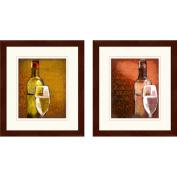 """Wine Words"" Framed Art, Set of 2"