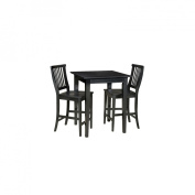Home Styles Arts & Crafts 3 Piece Pub Set, Ebony