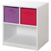 4D Concepts Girls 2 Drawer Nightstand - White