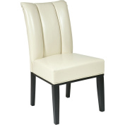 Office Star Products MET89CM Metro Parsons Dining Chair with Back - Cream Eco Leather
