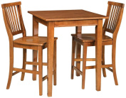 Home Styles Arts & Crafts 3 Piece Pub Set, Cottage Oak