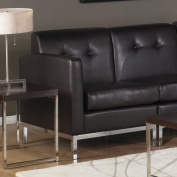 Avenue Six Wall Street Left Arm Facing Chair, Espresso Faux Leather