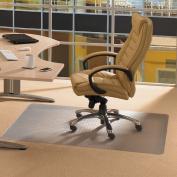 Floortex Cleartex Advantagemat PVC Rectangular Chairmat for Hard Floor & Carpet Tiles, 120cm X 200cm , Clear