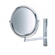 Jerdon 23cm 2-Sided Swivel Wall Mount Mirror with 3x Magnification, 22cm Extension, Chrome