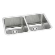 Elkay ELUH361710 Gourmet Lustertone Stainless Steel Double Bowl Undermount Sink