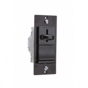 Legrand TradeMaster 600W Decorator Single Pole Slide Dimmer Preset with Housing in Black