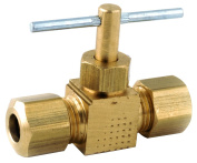 Anderson Metals 759106-11cm by 0.6cm Straight Needle Valve, Brass