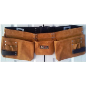 Born Tough 9 Pocket Suede Leather Tool Pouch Bag Belt