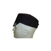 Comeaux Caps Flat Crown Caps - 30800 black quilted cap