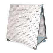 Triton Products Stainless Steel LocBoard Anodized Aluminium Frame Stainless Steel Tool Cart