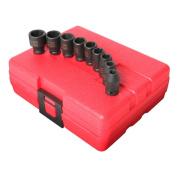 9 Piece 0.6cm Drive Standard Metric Impact Socket Set