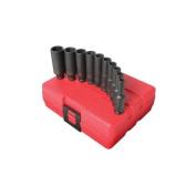 Sunex 4600.6cm Drive Deep SAE Impact Socket Set - 10-Piece
