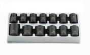 Sunex Tools 1.3cm Dr. 12 Pt. 13 Pc. Metric Impact Socket Set 2679