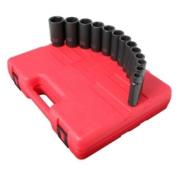 Sunex 2651 13-Piece 1.3cm . Drive 6-Point SAE Deep Impact Socket Set