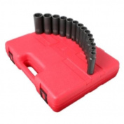 Sunex 2653 14-Piece 1.3cm . Drive Deep Well Metric Impact Socket Set