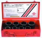 Sunex Tools 1.9cm Dr. 8 Pc. SAE Impact Socket Set 4680