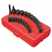 Sunex 1818 23-Piece 0.6cm . Drive SAE/Metric Master Magnetic Impact Socket Set