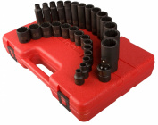 Sunex SUN3330 .38in. Drive 12 Point Master Metric Impact Socket Set - 29 Pieces