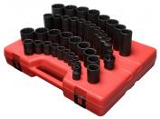 Sunex 6854.2cm Drive 12-Point SAE Master Impact Socket Set - 39-Piece