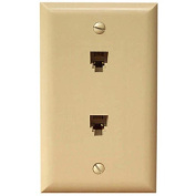 Morris Products Duplex Phone Jack in Ivory