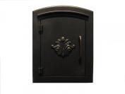 "QualArc MAN-1401-BZ Manchester NON-LOCKING ""Decorative Scroll Door"" Column Mount Mailbox i"