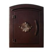 "QualArc MAN-1401-AC Manchester NON-LOCKING ""Decorative Scroll Door"" Column Mount Mailbox i"