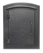 "QualArc MAN-1400-BL Manchester NON-LOCKING ""Plain Door"" Column Mount Mailbox in Black"