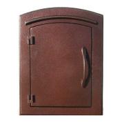 """QualArc MAN-1400-AC Manchester NON-LOCKING """"Plain Door"""" Column Mount Mailbox in Antique Co"""